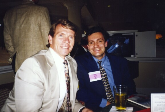 <p>Didier Font&egrave;s with Terry Whipple, the &quot;father&quot; of wrist arthroscopy</p>