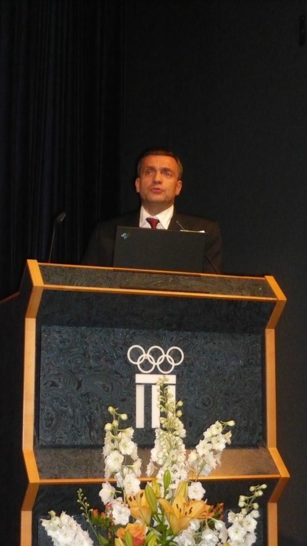 <p>Conference of D. Font&egrave;s MD at International Olympic Comity in Lausanne</p>